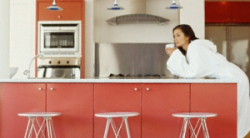Red Formica Laminate Kitchen Cabient Doors