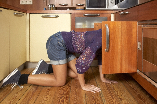Repairing flood damaged cabinet bottoms - How to repair water damaged kitchen cabinets ...