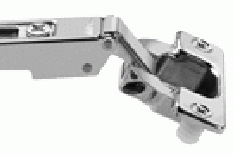 This European hinge photo shows the nylon dowels that press into the pre-drilled holes.