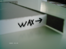 Protect from router burn-apply wax