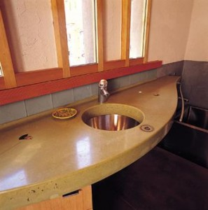 Concrete Counter/Copper Sink