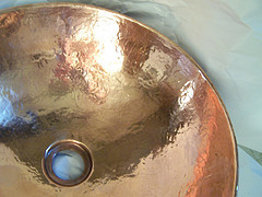 Hammered Copper Sink