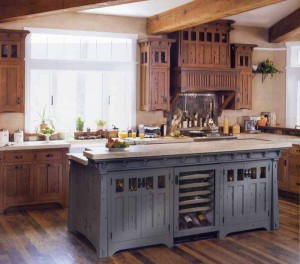 Kitchen Cabinet Color Accents