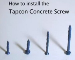 Installing Cabinets With Tapcon Screws
