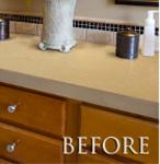Plastic Laminate Top Before Granite Paint