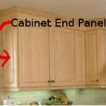 kitchen cabinet end panel installation