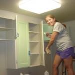 girl panting kitchens