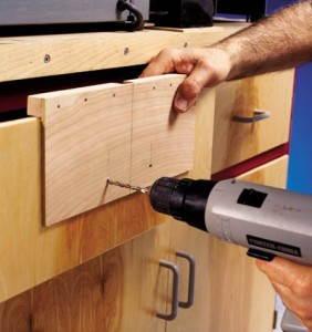Homemade Cabinet Door Hardware Template