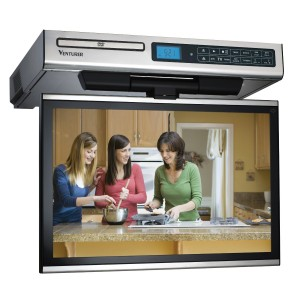 kitchen cabinet undermount tv dvd player installation