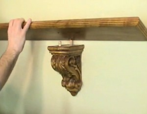 Corbel Shelf Bracket With Dowels
