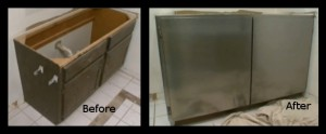 Covering Cabinet With Stainless Steel