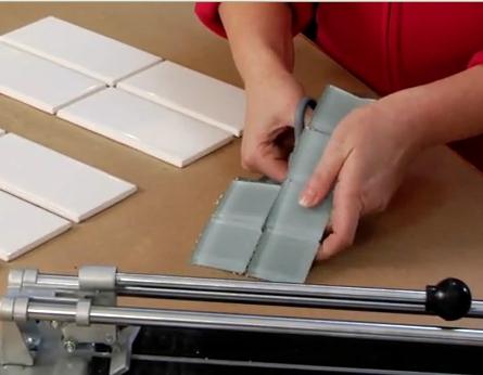 Cutting Glass Backsplash Tiles