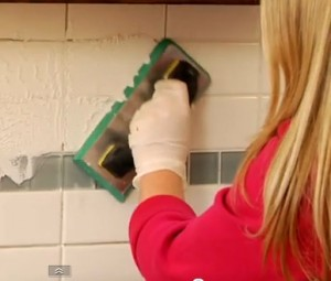Grouting a Kitchen Tile Backsplash
