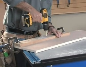 Jig For Drilling Cabinet Adjustable Shelf Holes