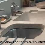 Kitchen Concrete Countertop Sink With Drainboard