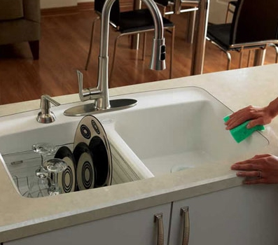 Plastic Laminate Integral Sink