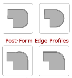Post Form Countertop Edge Profiles