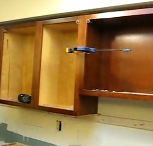 Cabinets Clamped Together