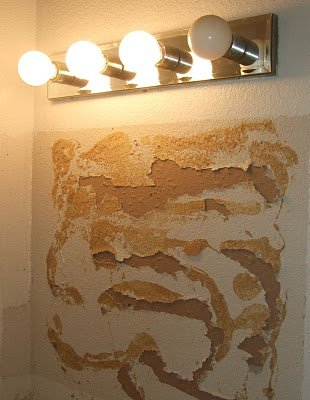 Liquid Nail Spots On Wall Where Mirror Was Installed