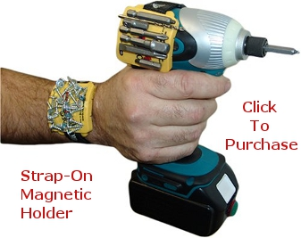 Wrist Mounted Magnetic Scew Holder