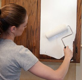 Rolling Paint On Formica Cabinets